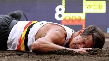 Бельгийский легкоатлет получил жуткую травму во время прыжка: видео