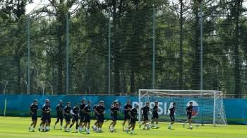 Сборная России провела тренировку в полном составе перед матчем с хорватами