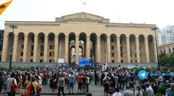 В Грузии у дома премьера прошла акция протеста