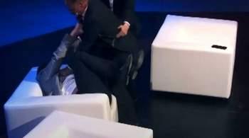 Депутата  Слуги народа  избили в эфире шоу во время спора о рынке земли